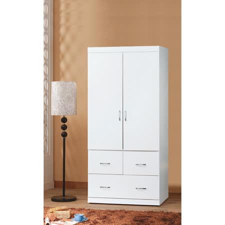 優質純白2.7*6尺衣櫥