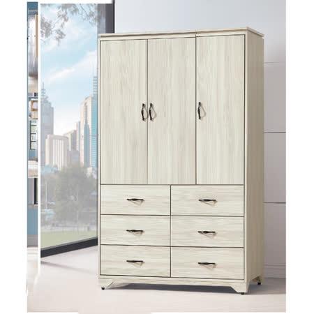 日風雪杉白4*7尺衣櫥