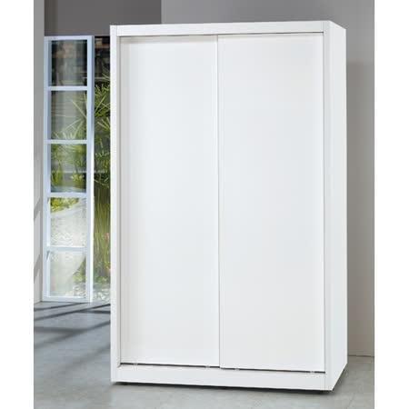 淨白4*7尺拉門衣櫥