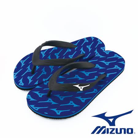Mizuno 美津濃 FLIP FLOP 夾腳拖鞋 運動拖鞋  (藍) - K1GS168127
