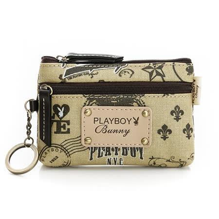 PLAYBOY- Road Trip 66號公路之旅系列 零錢包-卡其色