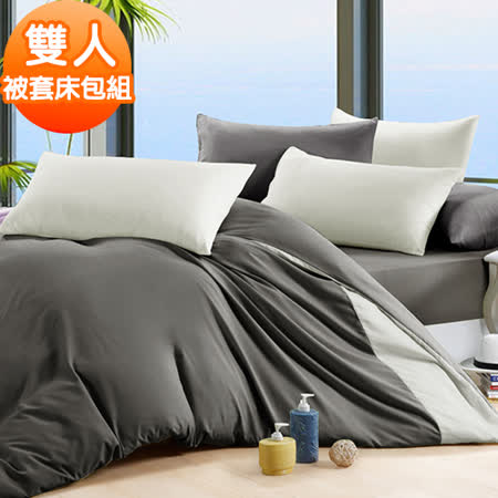 J-bedtime【芝麻慕斯】3M吸濕排汗專利X防蹣抗菌雙人四件式被套床包組