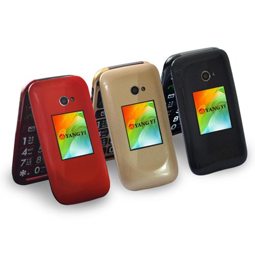 【YANG YI 揚邑】Y335 雙螢幕3G翻蓋2.4吋雙卡時尚風孝親機 (原廠全配)