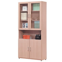 HAPPYHOME 貿昇2.6尺木門書櫃UZ6-260-4