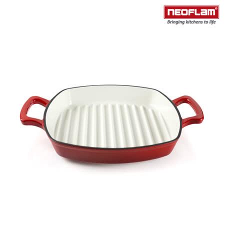【好物分享】gohappy韓國NEOFLAM 28cm厚釡琺瑯鑄鐵牛排煎鍋 NF-CI-G28好嗎愛 買 冰箱