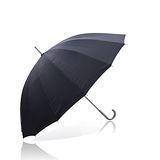 【TV好傘王】吹不壞?踩不爛!第二代真品無敵傘~16支傘骨-手動直立傘-超堅固-抗UV_黑色