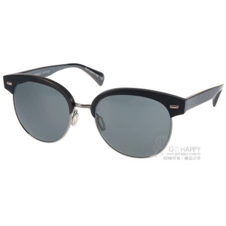 OLIVER PEOPLES太陽眼鏡  前衛時尚眉框款(黑-銀) #SHAELIE 522287