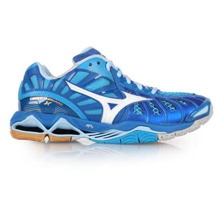 (男) MIZUNO WAVE TORNADO X 排球鞋-美津濃 藍白
