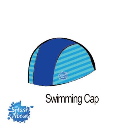 Splash About 潑寶 UV Swim Hat 抗UV泳帽-海軍藍/藍綠條紋