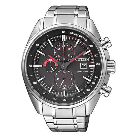 CITIZEN 星辰 情人節 光動能推薦款三眼男用腕錶-43mm/CA0590-58E