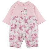 【愛的世界】LOVEWORLD 北極熊系列純棉鋪棉衣連褲/6個月~1歲-台灣製-