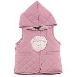 【愛的世界】MYBABY 小熊甜心系列保暖鋪棉背心/6~12歲-台灣製-