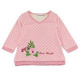 【愛的世界】LOVEWORLD 金魚系列圓點繡花上衣/4~10歲-台灣製-