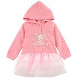 【愛的世界】MYBABY 小熊甜心系列紡紗長袖連帽上衣/6~10歲-台灣製-
