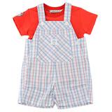 【愛的世界】MYBEAR 夏令營系列純棉圓領短袖背心褲套裝/1~2歲-台灣製-