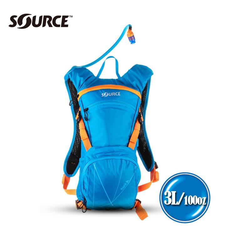 以色列SOURCE 戶外健行水袋背包Rapid 2052523003~淺藍~3L 城市綠洲