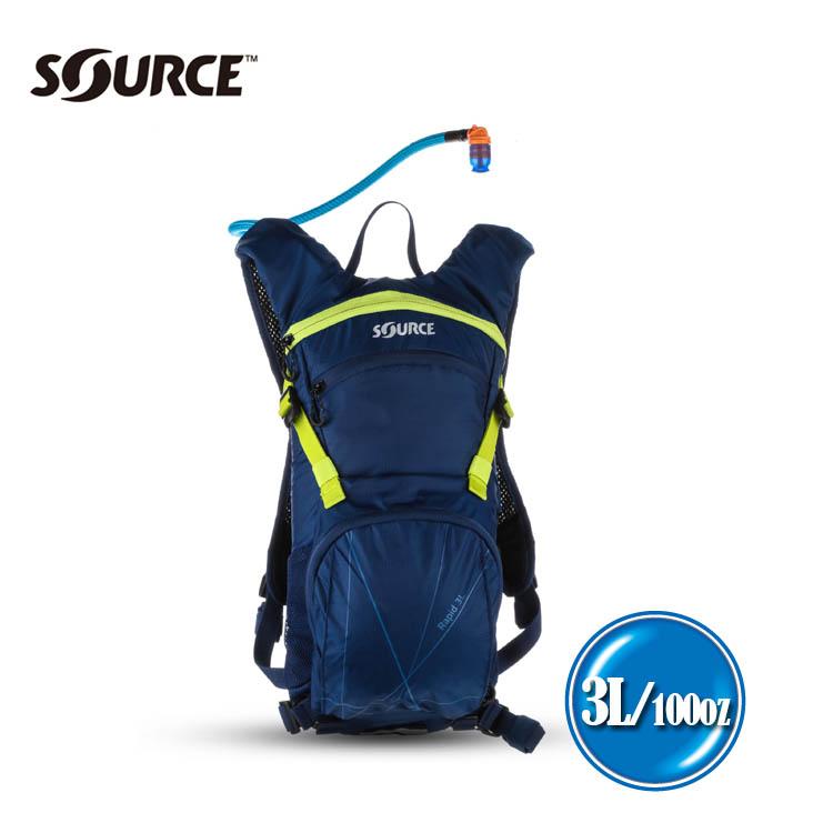 以色列SOURCE 戶外健行水袋背包Rapid 2052526403~深藍綠~3L 城市綠