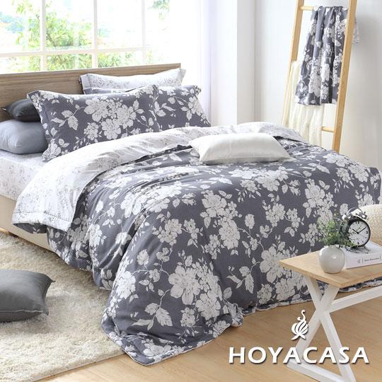 ~HOYACASA 盎然生香~雙人四件式森麻兩用被床包組