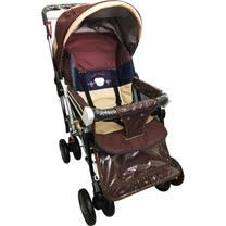IAN BABY 9998(889)豪華加寬超大型 嬰兒手推車/鋁合金/台灣製(橘色/咖啡色)