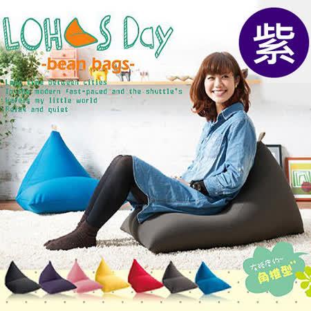 【BNS家居生活館】LOHAS Day 樂活時尚懶人沙發-紫