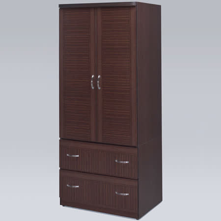 《Homelike》羅其2.7x6尺衣櫃(胡桃色)