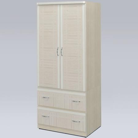《Homelike》羅其2.7x6尺衣櫃(雪松色)