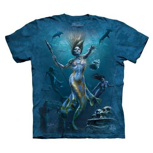 ~摩達客~^( ^) 美國 The Mountain 美人魚狩獵 純棉環保短袖T恤