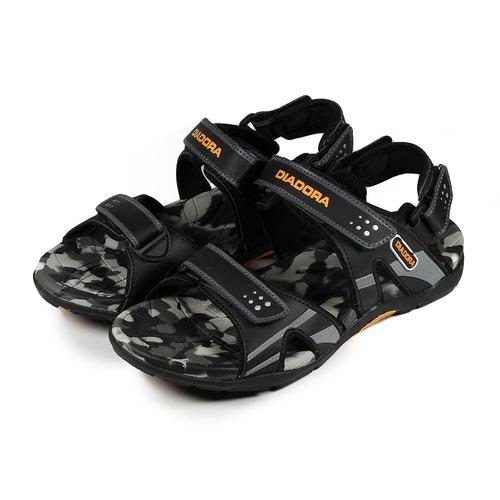 ^(男^) DIADORA 排水迷彩涼鞋 黑 鞋全家福