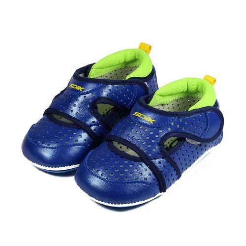 ^(小童^) SDIK 雙黏帶洞洞寶寶鞋 藍 鞋全家福