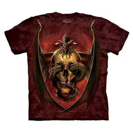 【摩達客】(預購) 美國進口The Mountain 蜘蛛骷髏 純棉環保短袖T恤