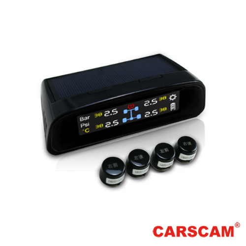 CARSC行車紀錄器腳架AM行車王 TP-400 太陽能無線胎壓偵測器