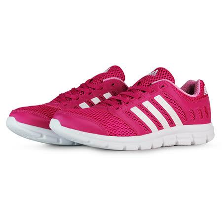 adidas 女 BREEZE 101 2 W 愛迪達 慢跑鞋 桃紅 - AF5344