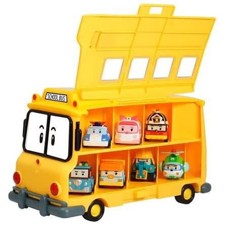 【POLI 變形車系列】校車收納盒歡樂組合(內附兩款合金車) RB32325