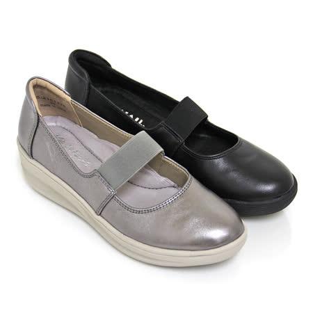 SNAIL蝸牛_極簡素面彈力鬆緊帶真皮厚底瑪莉珍鞋(女鞋)