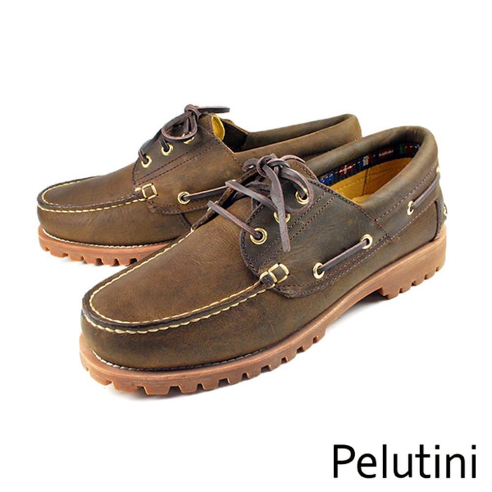 ~Pelutini~雷根底帆船鞋 褐色^(6735~DBRS^)