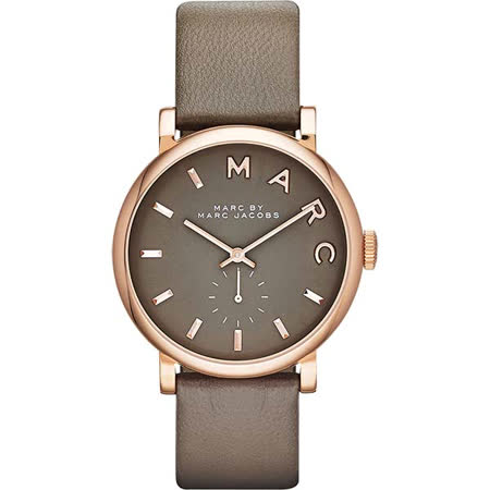 Marc Jacobs Baker 國際舞台小秒針腕錶-灰綠/36mm MBM1266