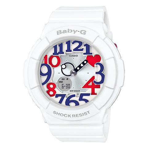 CASIO 卡西歐 Baby~G 夏日海軍風女用 腕錶~BGA~130TR~7B