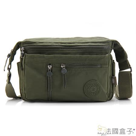 【法國盒子】輕盈美學實用多隔層二用包(軍綠)new932