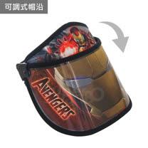 兒童罩式遮陽帽-鋼鐵人(黑)