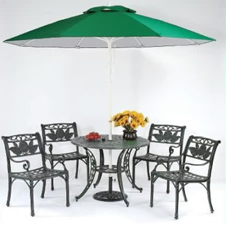 鋁合金3.3尺向日葵圓桌椅組(全組)