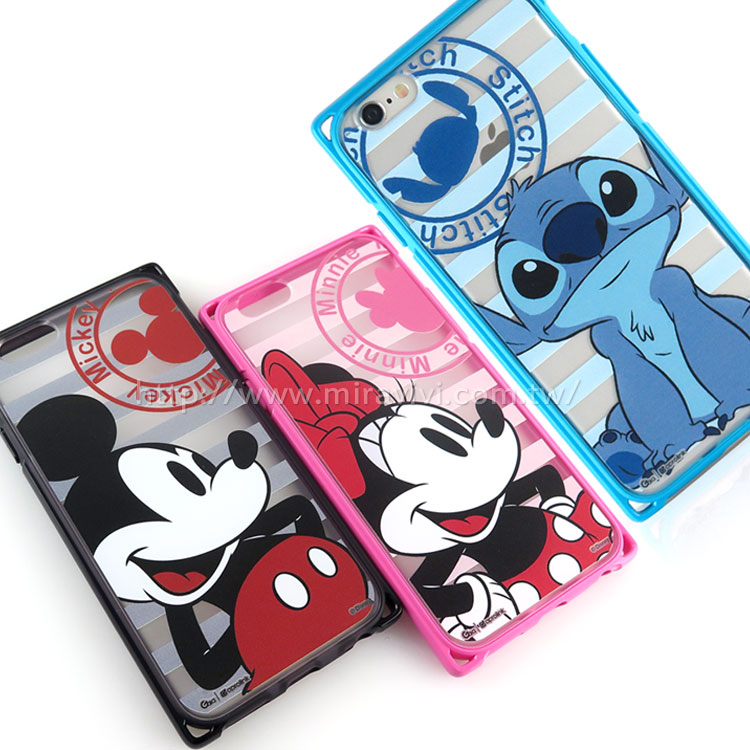 Disney iPhone 6/6s 專業耐衝擊aprolink雙料保護殼-條紋款