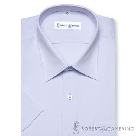 ROBERTA諾貝達 台灣製 冰涼沙條紋短袖襯衫 淺藍色