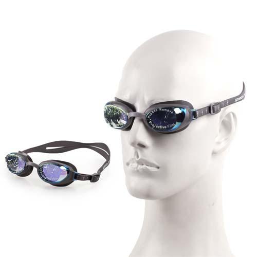 (女) SPEEDO AQUAPURE 鏡面成人用進階泳鏡 -游泳 蛙鏡 防高雄 愛 買 超市霧 灰紫 F
