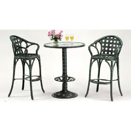 鋁合金2.5尺吧台桌椅組(一桌二椅)