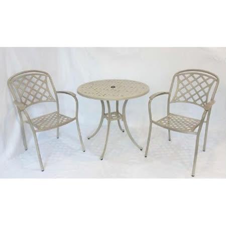 鋁合金2.5尺格子桌椅組(一桌二椅)