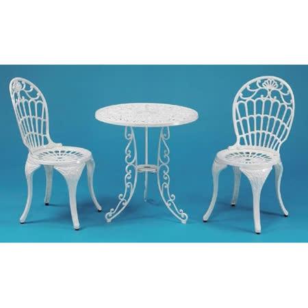 鋁合金2尺菊花圓桌椅組(一桌二椅)