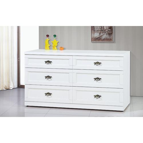 麗貝卡白色5尺六斗櫃