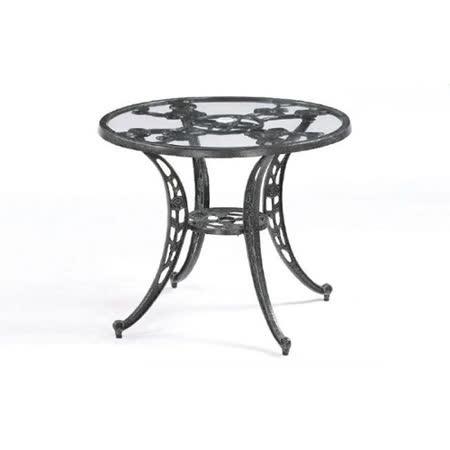 鋁合金3尺玫瑰玻璃圓桌
