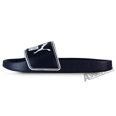 PUMA (男女) 彪馬 LEADCAT 拖鞋 藍/白-36026302