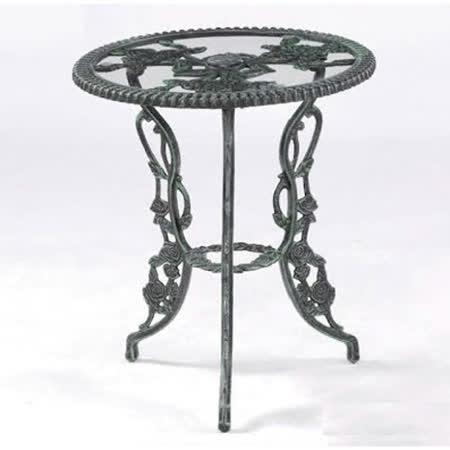鋁合金2尺玫瑰玻璃桌